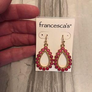 Francesca's Ombré Pink Drop Earrings